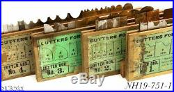 1 2 3 4 STANLEY TOOLS 55 PLOW combination plane cutter set irons