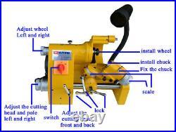 1 Set U2 R8 Universal Tool Cutter Grinder Sharpener Low Noise 100mm 220V Sale