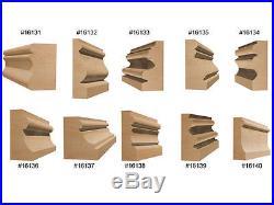 10 Bit Architectural Molding Router Bit Set 1/2 Shank Woodworking Cutter