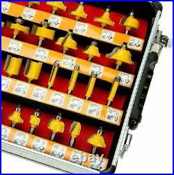 100 Pcs Tungsten Carbide Router Bits Set 1/4 Shank Woodworking Cutter Bit Tool