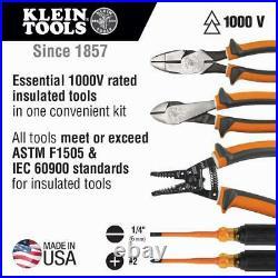 1000 Volt Insulated Electrician Repair Hand Tool Kit 5-Piece Set Cutter Pliers