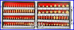 100pc Route Bit Set Tungsten Carbide Woodworking Cutters Tools 1/4 inches Shank