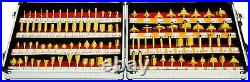 100pc Router Bit Set 1/4 inches Shank Tungsten Carbide Woodworking Cutters Tools