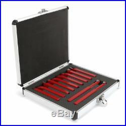 11 Pcs 3/8 Carbide Tip Tipped Cutter Tool Bit Cutting Set Metal Lathe Tooling