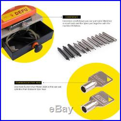 110V Laser Copy Duplicating Machine With Full Set Cutters F Locksmith Tools 339C