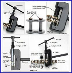 13PC Chain Cutter Rivet Tool Set Riveting Breaker ATV/Bike/Motorcycle/Cam Drive