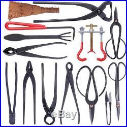 14Pcs Garden Handmade Bonsai Tool Set Carbon Steel Extensive Kit Cutter Scissors