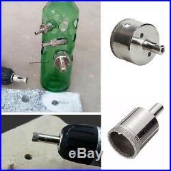 15P 6-50mm Diamond Coated Drill Bit Set Hole Saw Cutter Metal Tool Glass Tile TM