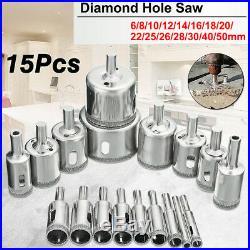 15P Diamond Saw Cutter Ceramic Marble Porcelain Tile Drill Bit Set 6-50mm RM