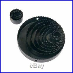 16Pcs Hole Steel Saw Kit Metal Circle Cutter Round Drill Bits Set 3/4-5 Inch