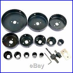 16Pcs Hole Steel Saw Kit Metal Circle Cutter Round Drill Bits Set 3/4-5 US New