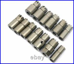 17Pcs Diesel Injector Seat Cutter Cleaner Set Universal Injector Reamer Tool US