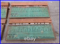 1800's Antique Vintage Stanley Universal Plane No. 55 Cutter Blades FULL Box Set