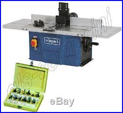 230v Bench / Top Shaper Router Table Scheppach Hf50 + Cutter Set 8 Ø MM