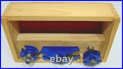 3 Bit Raised Panel Cabinet Door Router Bit Set 1/2 Inch Milling Cutter Tools