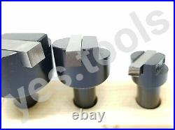 3 Piece Engineers Fly Cutter Set With HSS Tool Bits 1/2 Shank + Stand UK Stock
