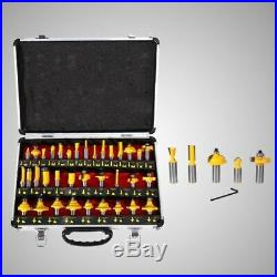 35pcs/set 1/2 Shank Milling Cutter Router Bit Woodworking Engraving Tool