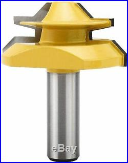 3Pcs Lock Miter Router Bit Set 1/2 Shank 45 Degree Woodworking Cutter Tool NEW