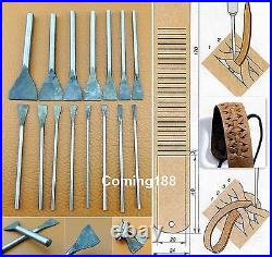 46pcs Leather Craft End Work Cutter Punch Tool Set Kit for Strap Belt Wallet NEW