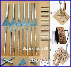 46pcs Leather Craft Punch Cutter Tool Set Kit Strap Belt Wallet Leather End Work