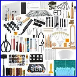 509 Pieces Leather Working Tool Set with an Instructions, Punch Cutter Tools