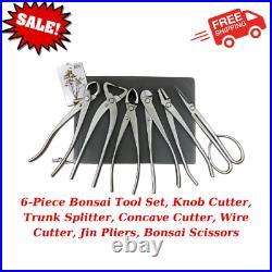 6-Piece Bonsai Tool Set, Knob Cutter, Trunk Splitter, Concave Cutter