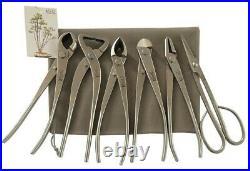 6-Piece Bonsai Tool Set, Knob Cutter, Trunk Splitter, Concave Cutter, Cutter