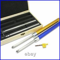 6Pcs Wood Turning Tool Carbide Insert Cutter Set Aluminum Handle Lathe Finisher