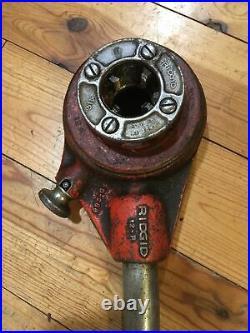 7 Piece Set Ridgid Pipe Threading Dies, Pipe Cutter, & Deburring Tool