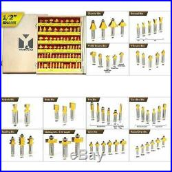 70 Set 1/2 Shank Ogee Router Bits Rail Wood Cutter Tool Carbide Tipped Durable