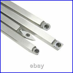 8pcs Wood Turning Tool Carbide Insert Cutter Set with Aluminum Handle Wrench USA