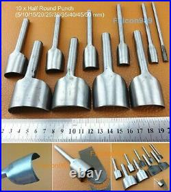 9 Kinds 46pcs Leather Craft Strap Belt Wallet End Work Punch Cutter Tool Set