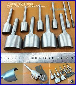 9 Kinds 46pcs Leather Craft Strap Belt Wallet End Work Punch Cutter Tool Set Kit