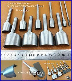 9Kind 46pc Leather Craft Strap Belt Wallet End Work Punch Cutter Tool Set Kit