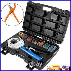 A/C Hydraulic Hose Crimper Tool Kit Hose Fittings Crimping Set Tools With Cutter