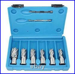 Accusize Industrial Tools Hss Professional Annular Cutter Set 1'' Cutting Depth