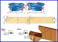 Amana Tool SC420 2-PC Wainscot 3-1/2 D x 1/2 & 3/4 Inch Bore Shaper Cutter Set