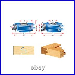 Amana Tool SC441 2-PC Eased Edge 3 D x 1/4 R x 1/2 & 3/4 Bore Shaper Cutter Set
