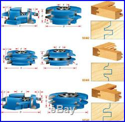 Amana Tool SC444 2-PC Ogee 2-11/16 D x 1/8 R x 1/2 & 3/4 Bore Shaper Cutter Set