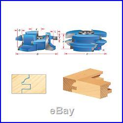 Amana Tool SC446 2-PC Bead 2-11/16 D x 9/32 R x 1/2 & 3/4 Bore Shaper Cutter Set