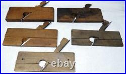 Antique Set 9 Skew Cutter Rabbet Wood Planes