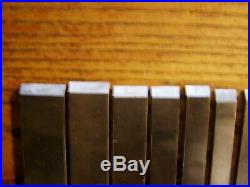 Antique Set of 16 CUTTERS for STANLEY No 45 COMBINATION PLANE Original Box