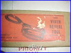 Auto Body Heller Horse Logo Reveal Vixen File withALL 5 Rasp Cutters Tool in Box