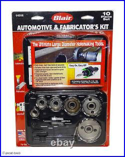 BLAIR HOLE CUTTER KIT 10-pc hole saw set metal working tools large holes
