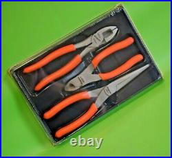 BRAND NEW Snap On Tools 3pc Pliers, Cutters & Grips Set in Tray PLR300O
