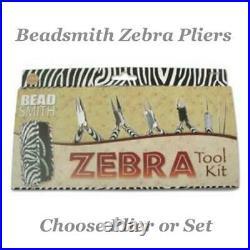 Beadsmith ZEBRA Pliers Jewellery Tools Choose Set, Cutter, Chain, Round, Flat