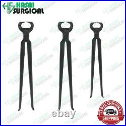 Black Hoof Pin Cutter Nipper Farriers Tool, Set Of 3pcs Hoof Pin Cutter Surgical