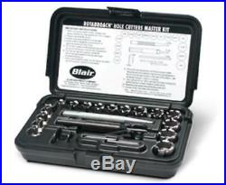 Blair 11099 Rotabroach Master Set, 1/4 To 3/4 Hole Cutters, Arbor, Pilots, Hex