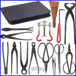 Bonsai Pruning Tool Set Shear Garden Cutter Carbon Steel Scissors Kit With Case