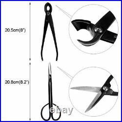 Bonsai Tool 10x Set Carbon Steel Kit Cutter Scissors Shears Tree Nylon Case